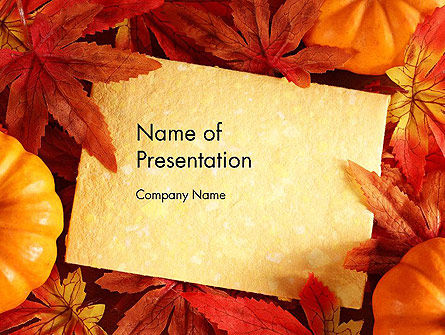 Thanksgiving Card PowerPoint Template, 12702, Holiday/Special Occasion — PoweredTemplate.com