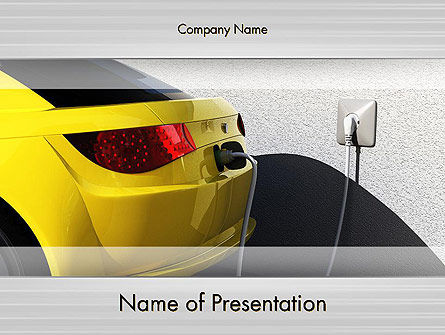 Electric Car Charging Station PowerPoint Template, 12704, Technology and Science — PoweredTemplate.com