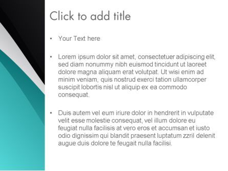 Azure and Black Abstract PowerPoint Template, Slide 3, 12706, Abstract/Textures — PoweredTemplate.com