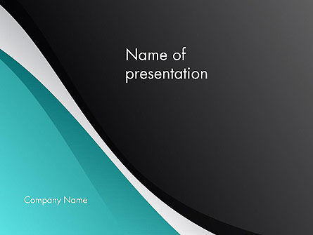 Azure and Black Abstract PowerPoint Template