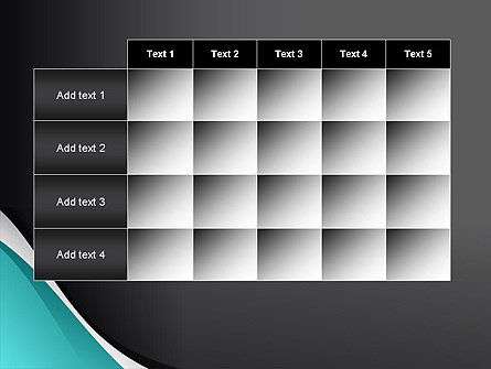 Azure and Black Abstract PowerPoint Template Slide 15