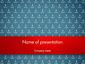 Abstract/Textures: White Anchors on Navy Blue Background PowerPoint Template #12711