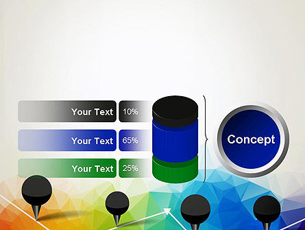 Checkpoints on Colored Background PowerPoint Template Slide 11