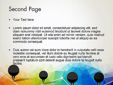 Checkpoints on Colored Background PowerPoint Template, Slide 2, 12714, Abstract/Textures — PoweredTemplate.com