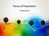 Abstract/Textures: Checkpoints on Colored Background PowerPoint Template #12714