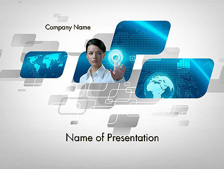 World of Business PowerPoint Template, 12720, Business — PoweredTemplate.com