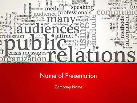 Public Relations Word Cloud PowerPoint Template, 12722, Careers/Industry — PoweredTemplate.com