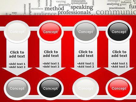 Public Relations Word Cloud PowerPoint Template Slide 18