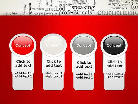 Public Relations Word Cloud PowerPoint Template Slide 5