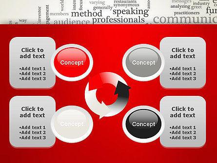 Public Relations Word Cloud PowerPoint Template Slide 9