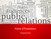 Careers/Industry: Public Relations Word Cloud PowerPoint Template #12722