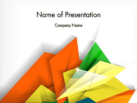 Abstract/Textures: Abstract Origami Style PowerPoint Template #12724