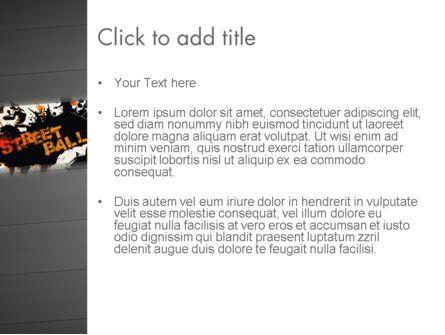 Street Basketball Graffiti PowerPoint Template, Slide 3, 12725, Sports — PoweredTemplate.com