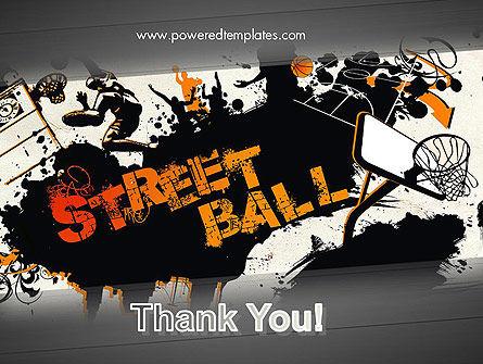 Street Basketball Graffiti PowerPoint Template Slide 20