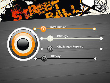 Street Basketball Graffiti PowerPoint Template, Slide 3, 12725, Sports — PoweredTemplate.com