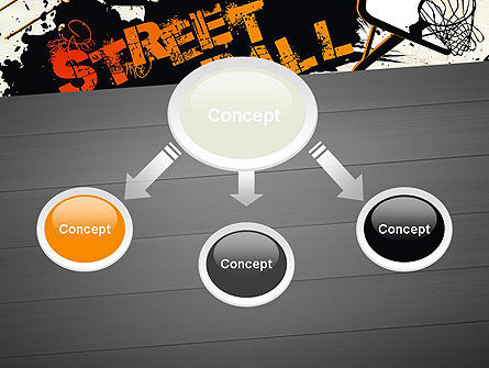 Street Basketball Graffiti PowerPoint Template, Slide 4, 12725, Sports — PoweredTemplate.com
