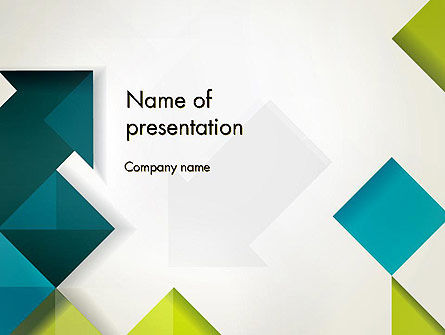 Abstract/Textures: Arrows Diamonds and Squares PowerPoint Template #12727
