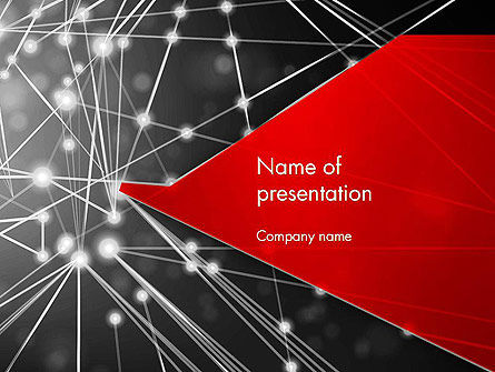 Abstract Network Community PowerPoint Template