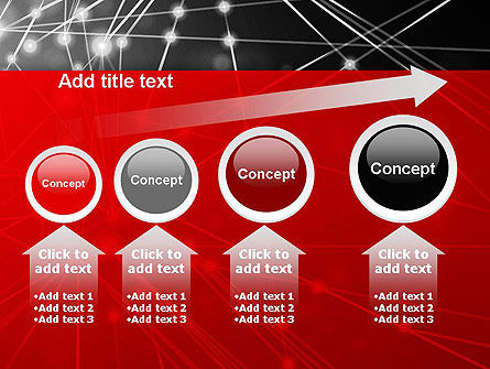 Abstract Network Community PowerPoint Template Slide 13