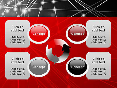 Abstract Network Community PowerPoint Template Slide 9