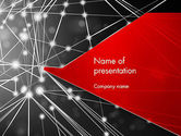 Careers/Industry: Abstract Network Community PowerPoint Template #12728
