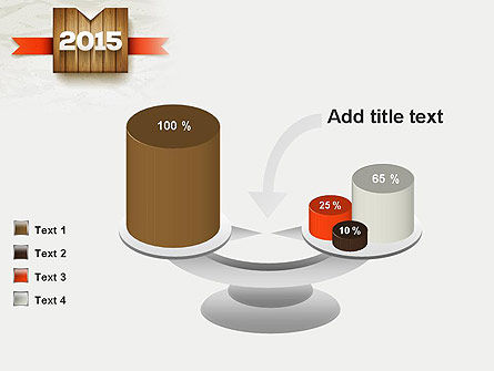 2015 on Wooden Surface with Ribbon PowerPoint Template Slide 10