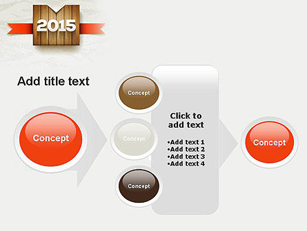 2015 on Wooden Surface with Ribbon PowerPoint Template Slide 17