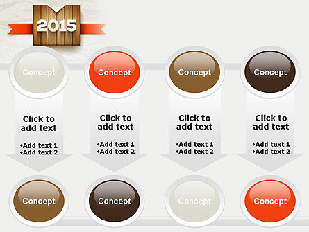 2015 on Wooden Surface with Ribbon PowerPoint Template Slide 18