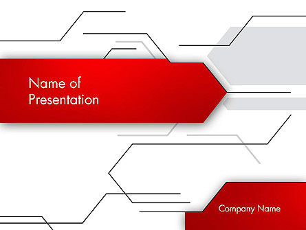 Abstract/Textures: Abstract Thin Lines PowerPoint Template #12732