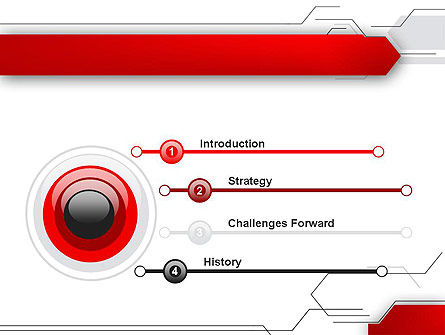 Abstract Thin Lines PowerPoint Template Slide 3