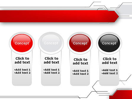 Abstract Thin Lines PowerPoint Template Slide 5