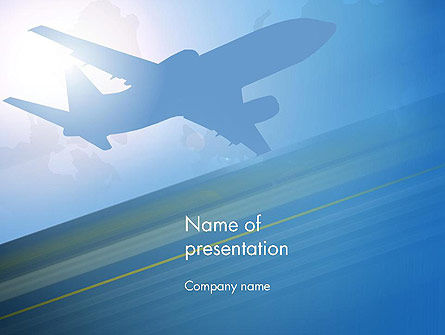 Airport Transfer PowerPoint Template, 12733, Cars and Transportation — PoweredTemplate.com