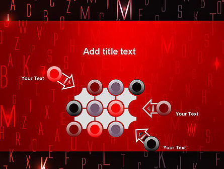 Red Letters on Black Background PowerPoint Template Slide 10