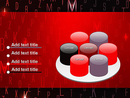 Red Letters on Black Background PowerPoint Template Slide 12