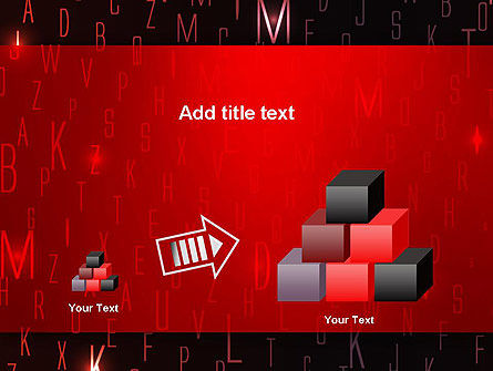 Red Letters on Black Background PowerPoint Template Slide 13