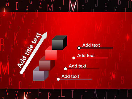 Red Letters on Black Background PowerPoint Template Slide 14
