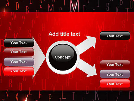 Red Letters on Black Background PowerPoint Template Slide 15