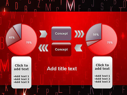 Red Letters on Black Background PowerPoint Template Slide 16