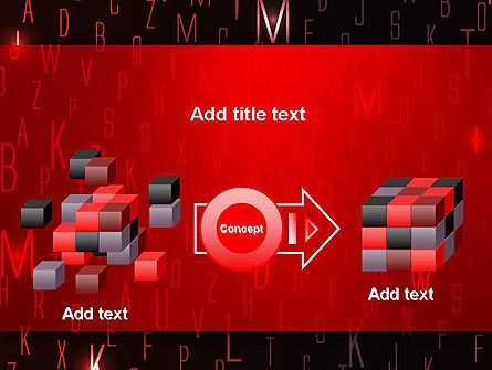 Red Letters on Black Background PowerPoint Template Slide 17