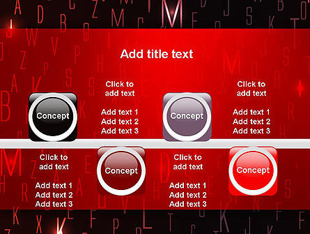 Red Letters on Black Background PowerPoint Template Slide 18