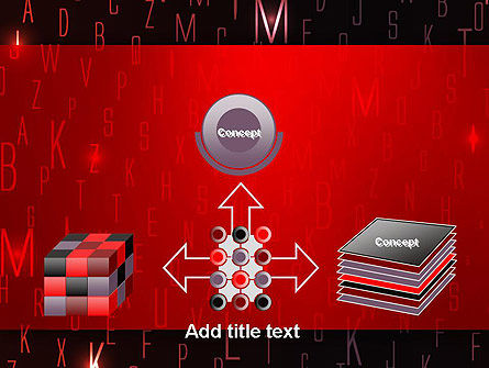 Red Letters on Black Background PowerPoint Template Slide 19