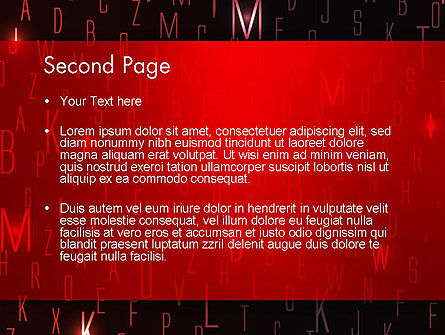 Red Letters on Black Background PowerPoint Template Slide 2