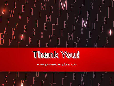 Red Letters on Black Background PowerPoint Template Slide 20