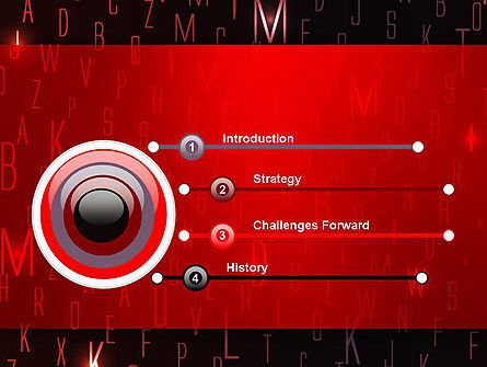 Red Letters on Black Background PowerPoint Template, Slide 3, 12734, Abstract/Textures — PoweredTemplate.com
