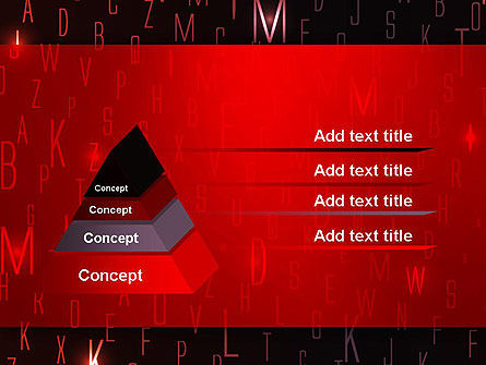 Red Letters on Black Background PowerPoint Template, Slide 4, 12734, Abstract/Textures — PoweredTemplate.com