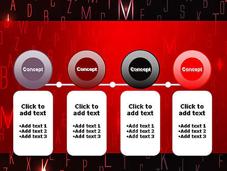 Red Letters on Black Background PowerPoint Template Slide 5