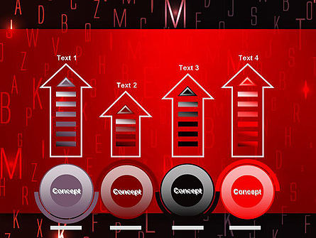 Red Letters on Black Background PowerPoint Template Slide 7