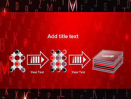 Red Letters on Black Background PowerPoint Template Slide 9