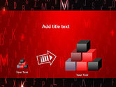 Red Letters on Black Background PowerPoint Template#13