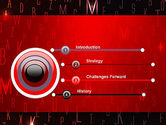 Red Letters on Black Background PowerPoint Template#3